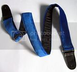 blue velvet strap